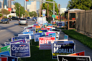 Houston Election Signs