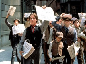 Scene from Newsies